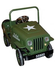 Coche a pedales Jeep color verde