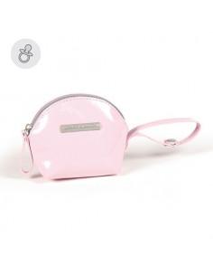 Funda chupete Tweed Baby rosa de Pasito a Pasito