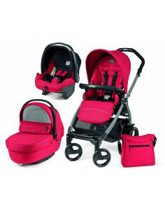 Coche de bebé tres piezas Red Peg-Perego