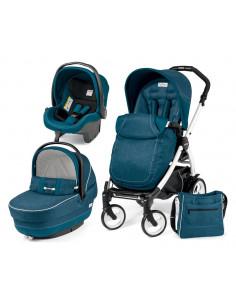 Coche de bebé tres piezas Saxony Blue Peg-Perego