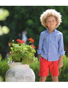 Camisa niño Vichy Azulina La Ormiga