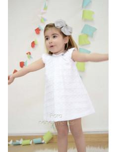 Vestido niña en tela encaje Paz de Paz Rodriguez