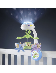 Móvil musical de cuna ositos voladores de Fisher Price