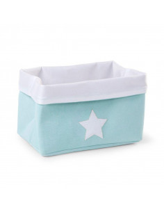 Cesta rectangular de almacenaje canvas mint de Child Home