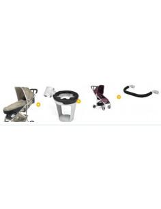 Oferta 3 silla Vida purple de Babyhome + inside purple + posavasos + bumperbar