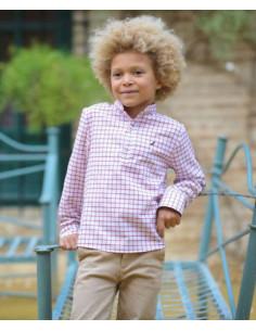 Camisa para niño Cuadros Burdeos La Ormiga Invierno