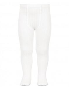 Leotardo canalé color blanco de Cóndor