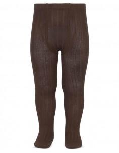 Leotardo canalé color marrón de Cóndor