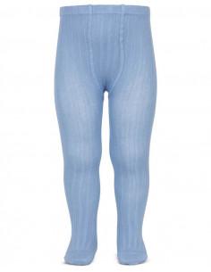 Leotardo canalé color azulado de Cóndor