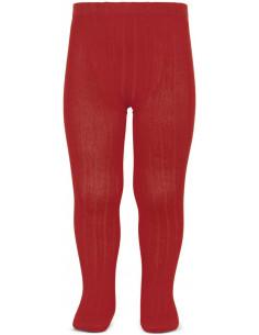 Leotardo canalé color rojo de Cóndor