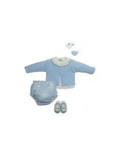 Cubrepañal de franela para bebé Nieve de Paz Rodríguez Invierno