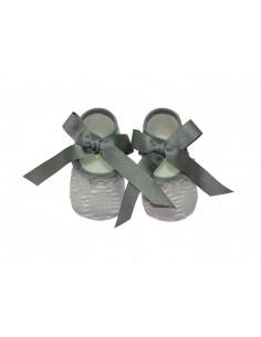Zapato sin suela de tela Niebla de Paz Rodríguez