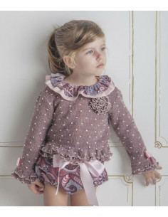 Jersey para niña Berenjena de Loan Bor Invierno 2017