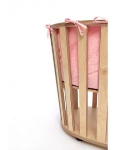 Protector rosa para minicuna MiniGuum Barcelona