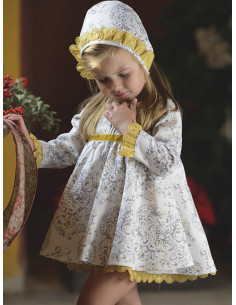 Jesusito de bebe para niña gris-mostaza La Ormiga Invierno 2017