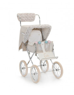 Kit de invierno beige para silla muñecas de Bebelux