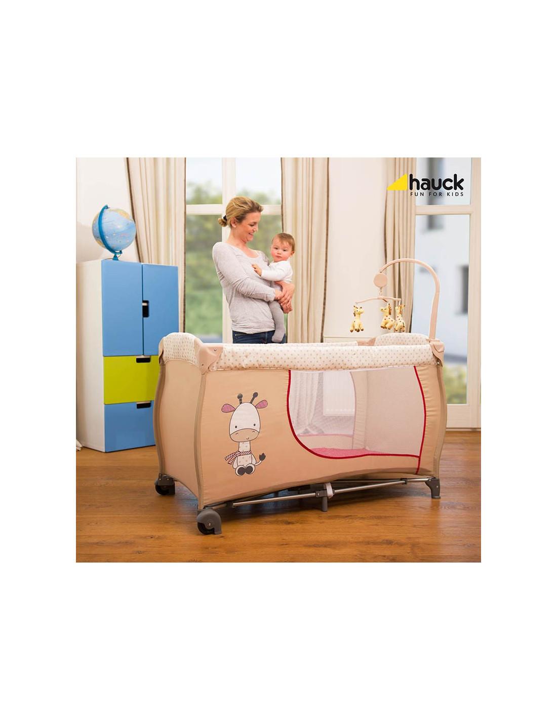 cuna de viaje babycenter giraffe de hauck. Black Bedroom Furniture Sets. Home Design Ideas