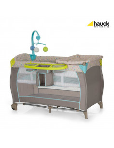 Cuna de viaje Babycenter Multi Dots Sand de Hauck