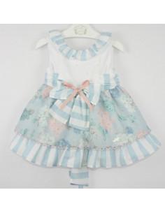 Vestido para niña con corte en la cintura Casia de Marta y Paula
