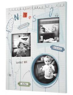 Cuadro de madera osito Scrapbook Boys de Mamas & Papas
