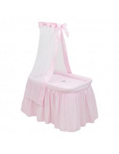 Moises con dosel rosa TC Crown de Cambrass