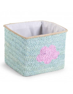 Cesta de mimbre estrella y nube mint de Child Home