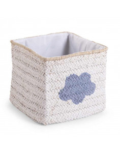 Cesta de mimbre estrella y nube blanco de Child Home