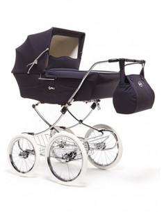 Coche de bebé gemelar Arrue Classic Twin navy