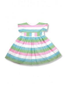 Vestido para niña Rayas Fresa de Foque