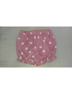 Pololo para bebé niña de lunar rosa de Pilar Batanero