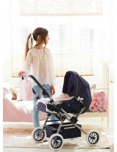 Cuco y silla de muñecas grande para niñas Inés La Nina