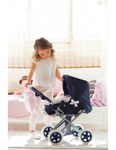 Cuco y silla de muñecas pequeño para niñas Inés La Nina
