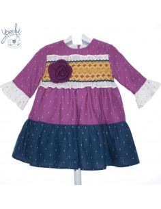 Vestido para niña Holanda de Yoedu Invierno