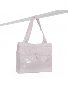 Bolso bandolera charol rosa de Bebelux