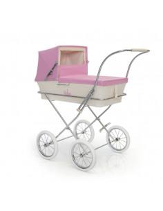 Cochecito grande para muñecas Paris rosa de Bebelux