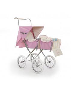 Silla grande para muñecas Big gemelar rosa de Bebelux