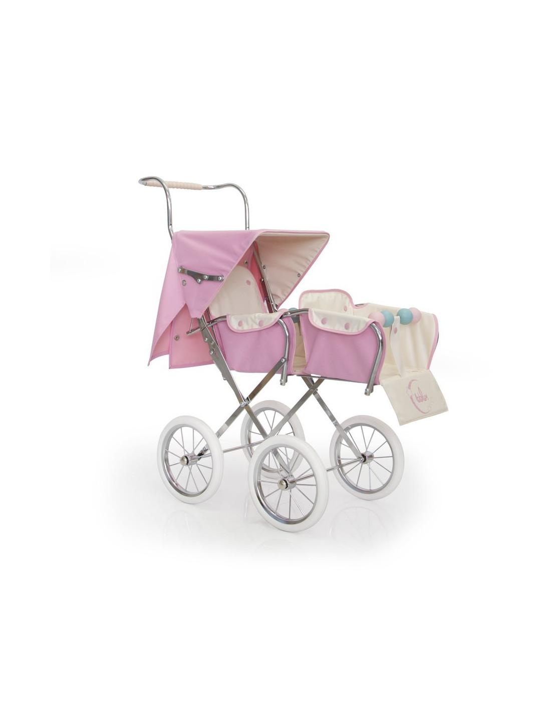 Silla para 2 mu ecas big gemelar rosa de bebelux - Silla paseo munecas ...