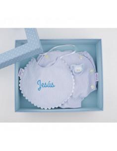 Cajita baby chic azul personalizada de Mi Pipo