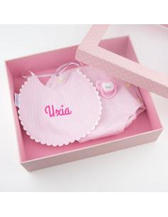 Cajita baby chic rosa personalizada de Mi Pipo