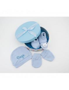 """Set """"Recién Nacido"""" azul personalizada de Mi Pipo"""