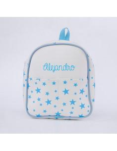 Mochila infantil estrella azul personalizada de Mi Pipo