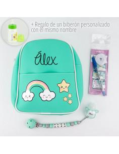 Pack mochila el cole mola personalizada de Mi Pipo