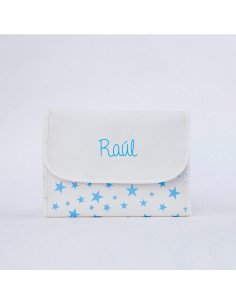 Portadocumentos estrella azul personalizada de Mi Pipo