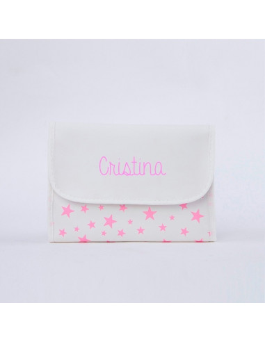 Portadocumentos estrella rosa personalizada de Mi Pipo