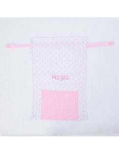 Saquito rosa personalizado de Mi Pipo