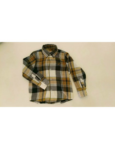 Camisa para niño Cuadros Marinos-Mostaza de La Ormiga Invierno
