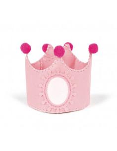 Kit Corona de cumpleaños para coser rosa de La Nina