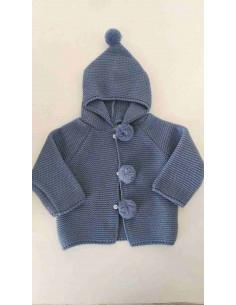 Trenca de bebe con capucha y pompones de Yoedu Invierno
