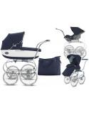 Coche trio Inglesina Classica Jacquard Bianco Blue