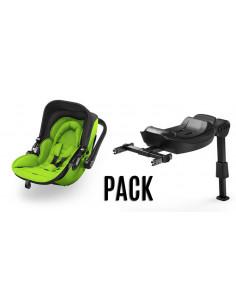 Pack Kiddy Evolution Pro2 spring green + Isofix Base 2